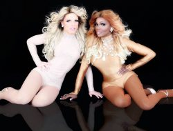 "Derrick Barry and Coco Montrese perform with ""Queens with Cox"" at Tacoma Pride Street Party at The Mix on Saturday, July 14, 2018!"
