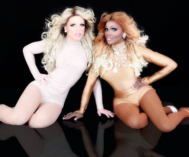"""Derrick Barry and Coco Montrese perform with """"Queens with Cox"""" at Tacoma Pride Street Party at The Mix on Saturday, July 14, 2018!"""