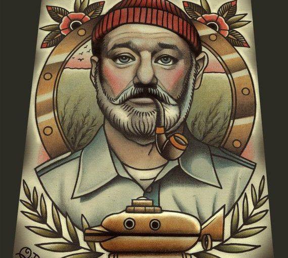 Steve Zissou by Parlor Tattoo Prints