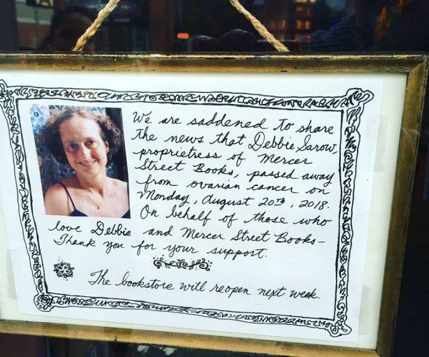Seattle bookseller Debbie Sarow died August 20, 2018 from ovarian cancer. Photo: Strangeways/SGS