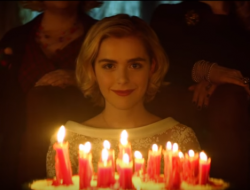 Kiernan Shipka stars as Sabrina the Teenage Witch in new Netflix series Chilling Adventures of Sabrina debuting October 26th. Image: Via Netflix trailer