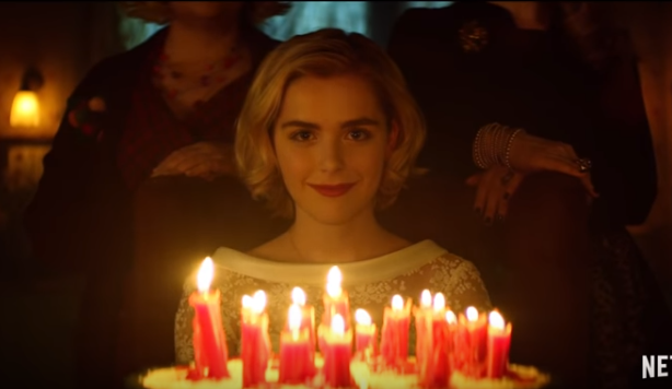 Kiernan Shipka stars as Sabrina the Teenage Witch in new Netflix series Chilling Adventures of Sabrina debuting October 26th. Image: Via Netflix trailer