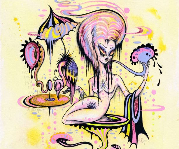 """Art: Camille Rose Garcia """"Electric Witch"""""""