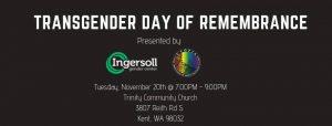 Transgender Day of Remembrance 18