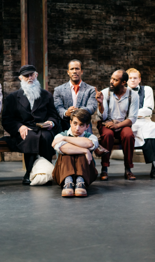 The cast of UW's INCIDENT AT VICHY by Arthur Miller. Photo by Logan Anthony Guerrero.