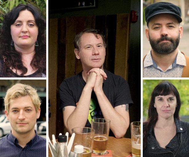 "The team behind new gay web series, ""Emerald Down & Out"". Photos by David Quantic and Danny Tayara."