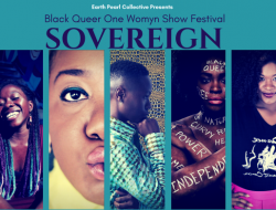 This year's Sovereign Festival features (L-R) Aishé Keita, Patience Sings, Naa Akua, Briq House, & Aviona Rodriguez Brown.