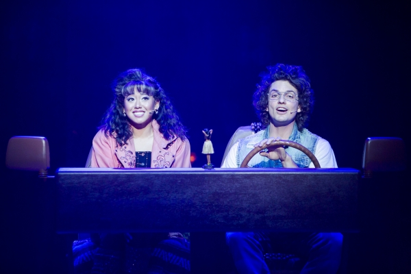 Diana Huey as Sherrie and Galen Disston as Drew star in Rock of Ages at The 5th Avenue Theatre - Photo Credit Tracy Martin