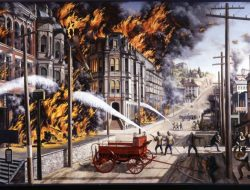 The Great Seattle Fire. Image via MOHAI