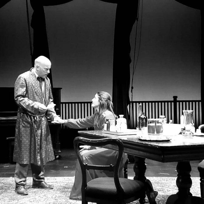Peter Crook as Vanya and Alexandra Tavares as Yelena in UNCLE VANYA at ACT