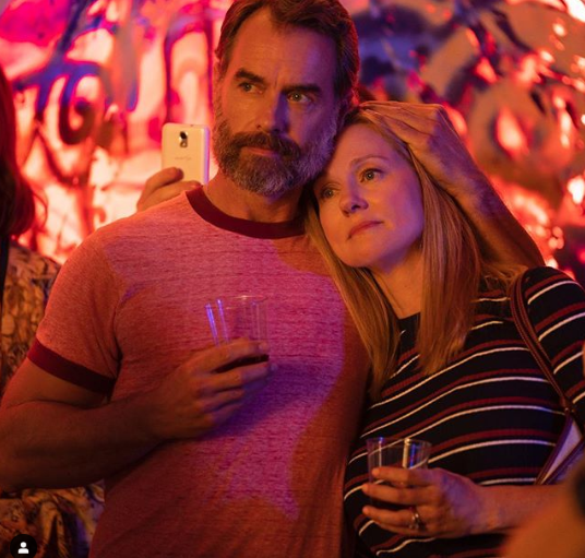"Murray Bartlett as ""Michael 'Mouse' Tolliver""; Laura Linney as ""Mary Ann Singleton"" in Netflix's Armistead Maupin's Tales of the City"