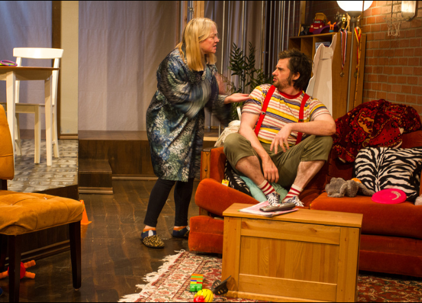 Teri J. Lazzara and Brandon Ryan in MAP Theatre's production of TREVOR. (Photo: Shane Regan)