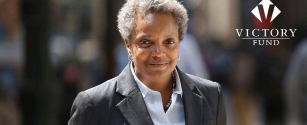 Lori Lightfoot wins in a landslide to become first out lesbian and  African-American mayor of Chicago.
