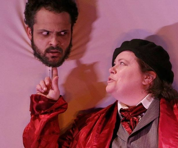 Teague M. Parker and Monique Kleinhans in theater simple's THE MASTER AND MARGARITA onstage at Theater Off Jackson through April 28, 2019