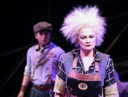 Mikko Juan as Bobby Strong and Mari Nelson as Penelope Pennywise in Urinetown - Photo Credit Jeff Carpenter