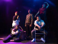 The ensemble of Queer, Mama. Crossroads (clockwise from top left) Kamari Bright, Naa Akua, Simone Dawson, Ebo Barton, Jalayna Carter Photo by Jaycee Hermida Holmes