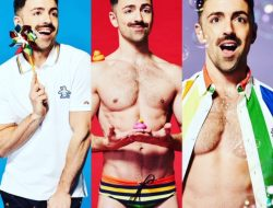 Original Penguin has a really cute Pride Capsule collection out now, here modeled by gay comedian Matteo Lane.