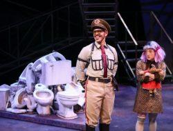 Brandon O'Neill as Officer Lockstock and Arika Matoba as Little Sally - Photo Credit Jeff Carpenter