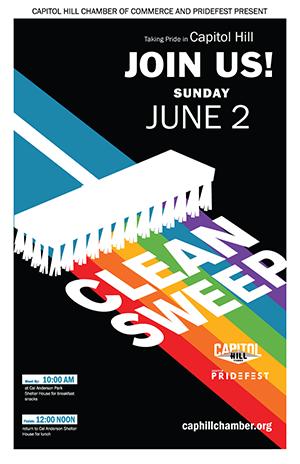 Seattle Pride 2019 Clean Sweep