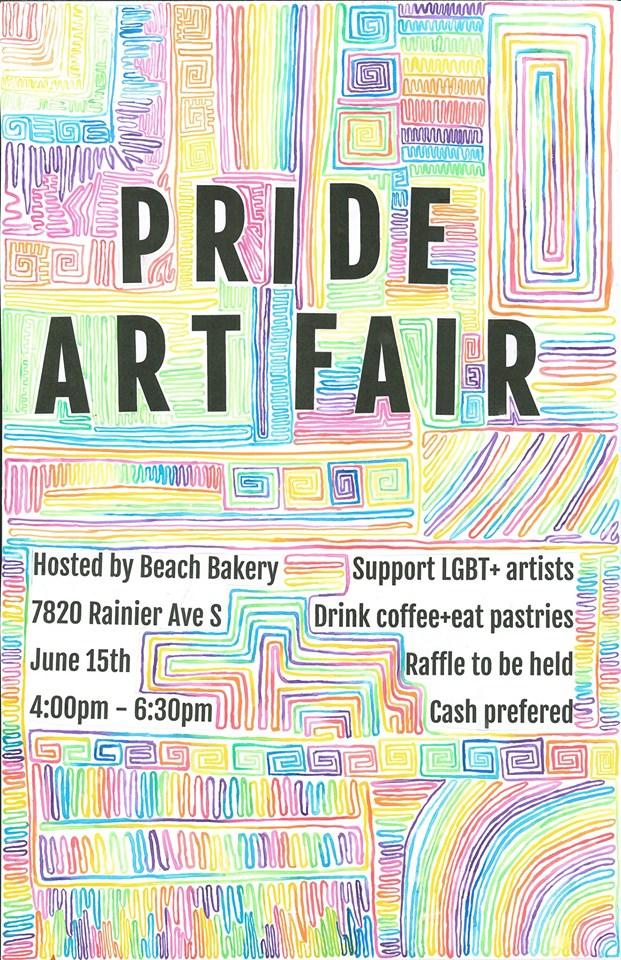 Pride Art Fair at Beach Bakery
