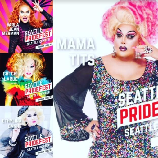 Mama Tits interviews drag stars Varla Jean Merman, Chi Chi LaRue and Ethylina Canne before their Seattle PrideFest appearances this weekend!!!