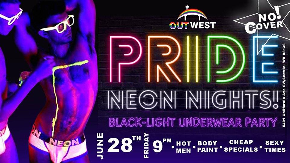 PRIDE NEON NightsBlack Light Underwear Party
