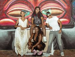 The women of The Txlips: MoDrumma, Guitar Gabby, and Armani Swayze