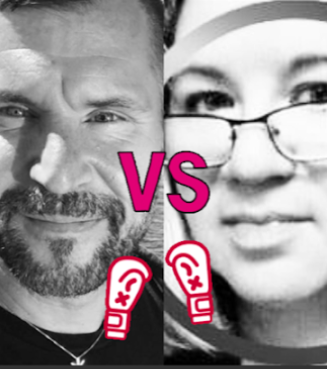 Charlette LeFevre, left is feuding with Egan Orion, right....AGAIN. Photos via Facebook.