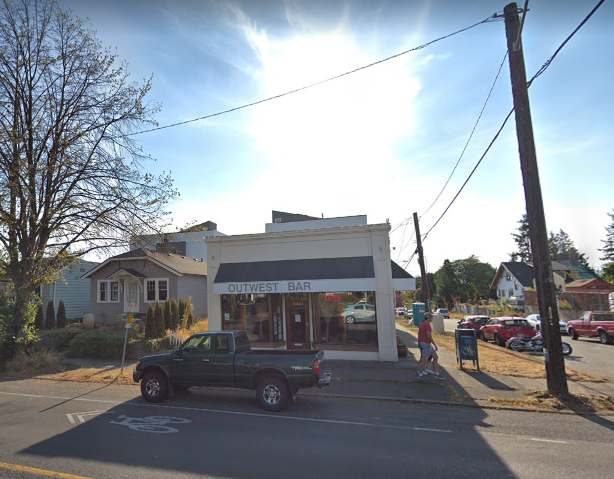 OutWest Bar, 5401 California Avenue SW in West Seattle is closing by the end of July 2019. Photo: Google Maps