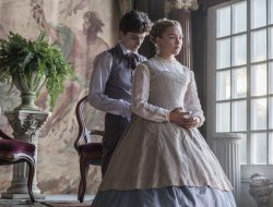 "Florence Pugh and peach fornicator Timothée Chalamet in the latest version of ""Little Women"" out at Xmas 2019"