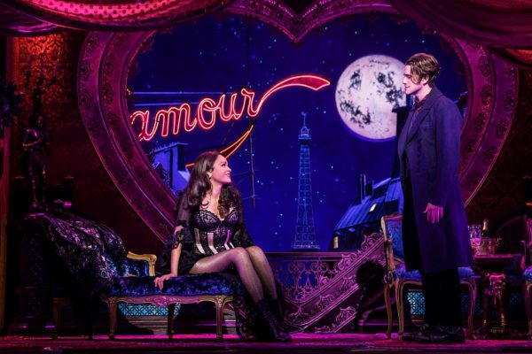 Karen Olivo and Aaron Tveit star in Moulin Rouge: The Musical. Photo: Matthew Murphy